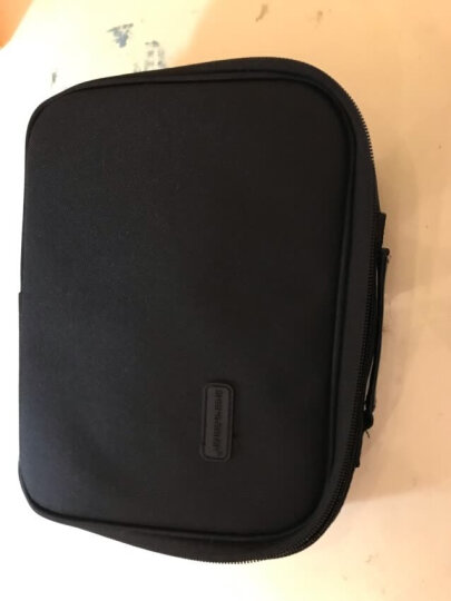 圣贝尔 旅行数码收纳包配件电源充电器整理包 耳机数据线收纳盒 硬盘包U盘手提袋 大号黑色 厂家发货 晒单图