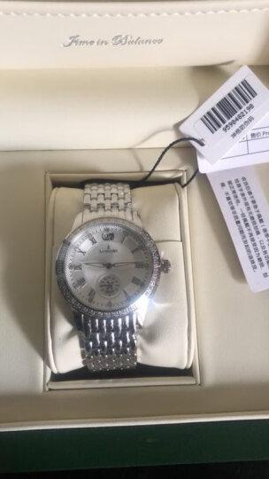 坤格(Kronsegler)德国进口手表 元首夫人系列女士手表镶钻防水石英表 白盘银壳银色钢带 KS719.W 晒单图