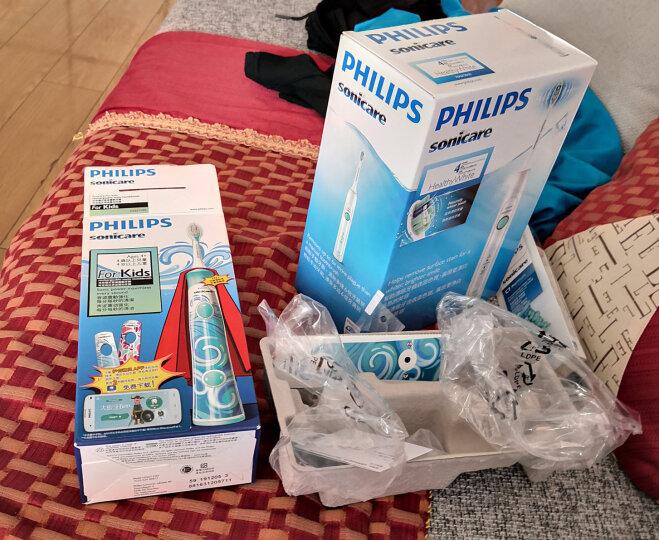 飞利浦(PHILIPS) 电动牙刷 儿童声波震动(自带刷头*2)(标准迷你刷头随机发货) HX6312/05 晒单图