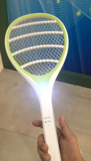 雅格 电蚊拍充电式LED灯 安全环保灭蚊拍苍蝇拍 5621白色 晒单图