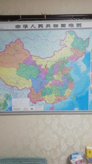 【启航版】中国世界双面地图挂图 1.1*0.8米 晒单图