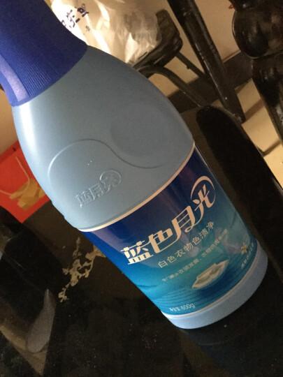 蓝月亮 蓝色月光 彩色衣物色渍净  漂白剂 彩漂 600g/瓶 晒单图