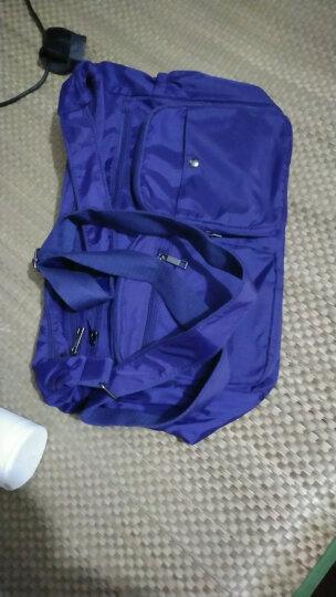 千品鱼新款韩版女士斜挎包轻便休闲包旅行包多口袋实用女包大容量 蓝色 晒单图