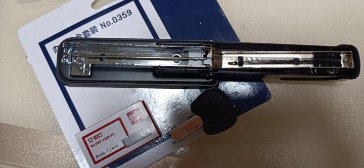 得力(deli)钢制耐用办公订书机套装(订书器+起钉器+订书钉) 适配12#钉 办公用品 黑色0359 晒单图