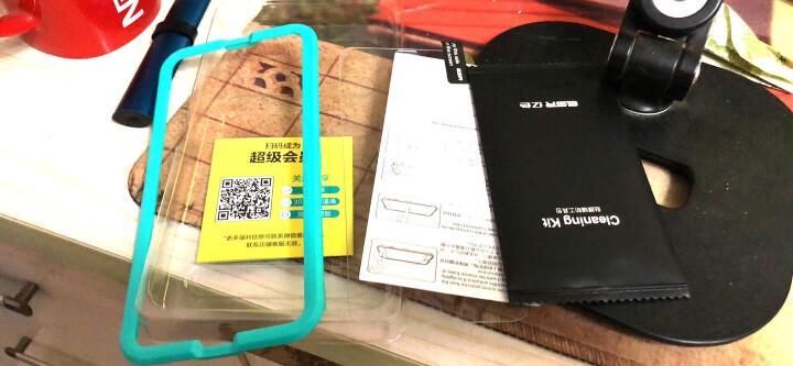 亿色(ESR)苹果X/XS钢化膜背膜 iPhone X/XS通用钢化后膜  全屏覆盖高清防爆防指纹玻璃保护手机后背贴膜 白色 晒单图