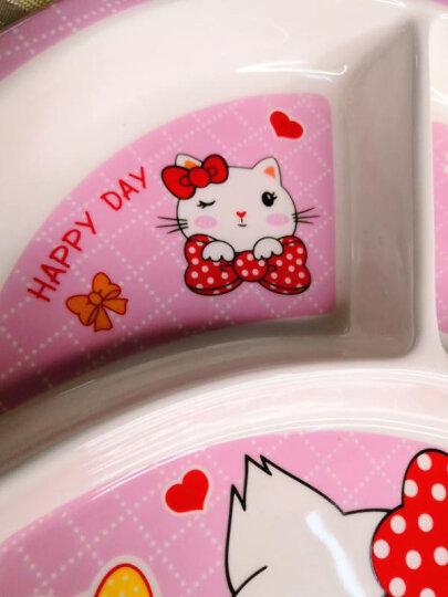 儿童餐具餐盘分格儿童餐盘套装陶瓷可爱小孩餐具创意卡通饭盘宝宝儿童吃饭分隔分餐盘餐具韩日式早餐盘子 斑马长方格盘 晒单图