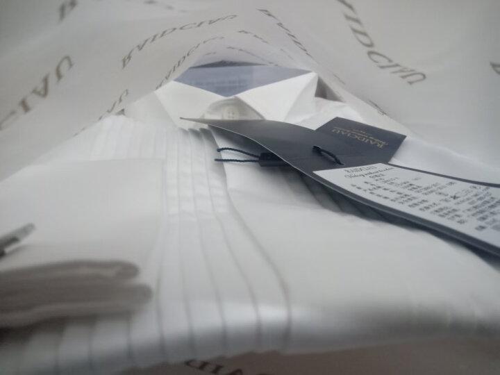新郎衬衫男白衬衫伴郎燕子领夏季薄款寸衫领结婚法式男士婚礼白色礼服衬衣 薄款中式白 42 晒单图