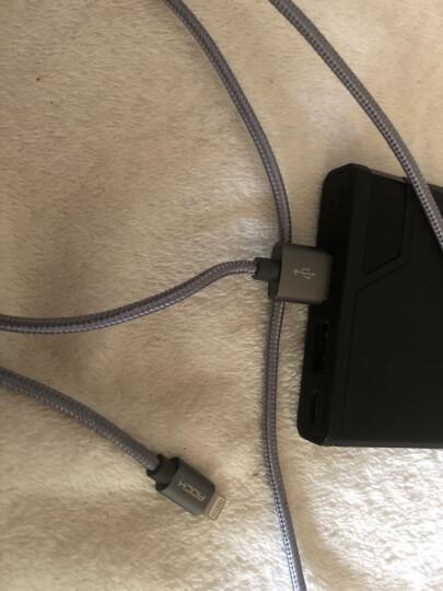 ROCK 苹果数据线 金属编织快充手机充电器线 支持iPhone11Pro/新SE/XS/XR/8Plus/7/6s/5s/iPad 1米 香槟金 晒单图