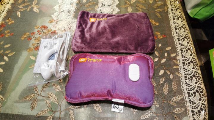 米尼K602热水袋暖手宝充电热水袋电暖宝充电暖手袋暖水袋 充电暖宝 酒红色 晒单图