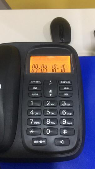 摩托罗拉(Motorola)数字无绳电话机 无线座机 子母机一拖二 办公家用 中文显示 双免提套装CL102C(青柠色) 晒单图