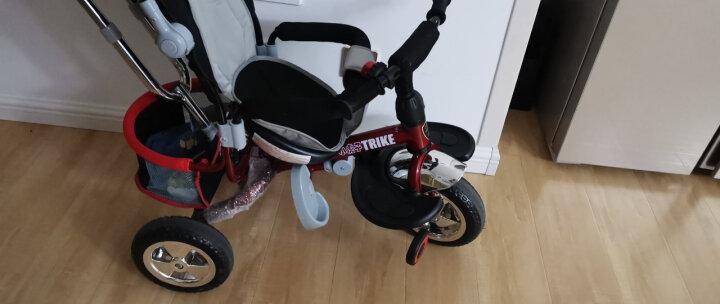 小虎子(little tiger)儿童三轮车脚踏车 免充气实心轮手推车 952/950-2带搁脚板 红色 晒单图