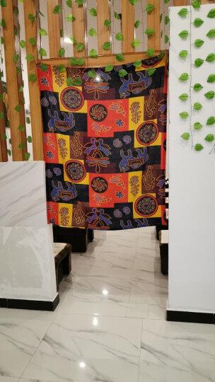 棉麻布料服装面料复古中国风名族印花旗袍薄麻桌布民族风布料 玛雅文明 晒单图