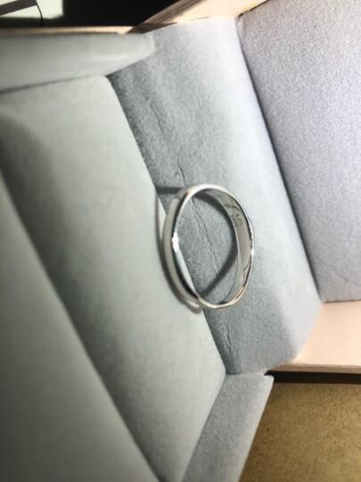卡蒂罗925银情侣戒指纯银一对镶施华洛世奇锆男女士戒子表白纪念日生日礼物送女友 一对开口永生花礼盒 晒单图