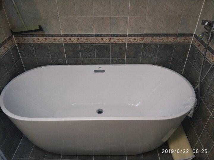 沃特玛(Waltmal) 薄边独立式小户型亚克力浴缸家用成人浴盆欧式 1.2-1.8米 空缸+五件套龙头 约1.7米 晒单图