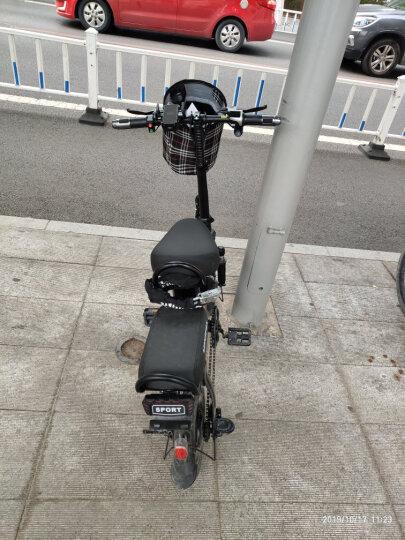 折叠电动自行车成人男女士小型超轻迷你便携代步助力电瓶车 锂电池可提取 新国标 青春版黑色助力约70KM 晒单图