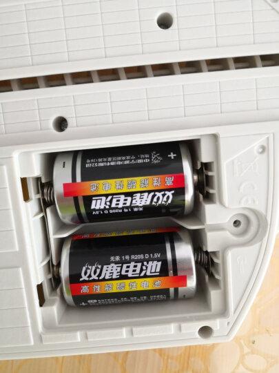 双鹿1号碳性电池 适用于燃气灶/热水器/手电筒/电子琴等 R20S/D型/大号 2粒装 晒单图