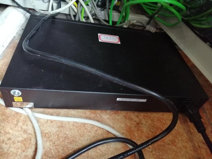 华为HUAWEI企业级交换机24口百兆以太网端口非网管静音桌面型简易操作网络分线器办公室酒店学校园S1700-24-AC 晒单图