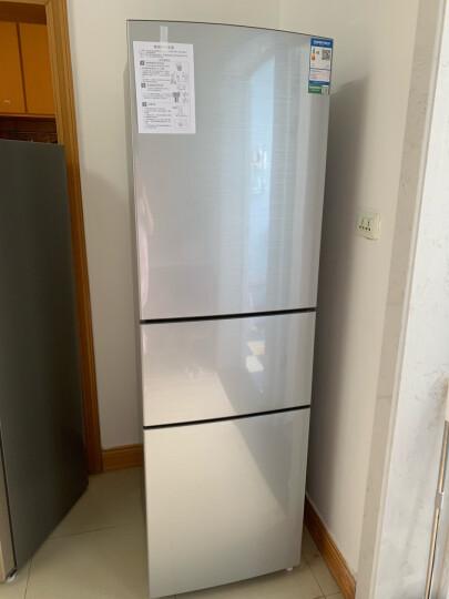 容声(Ronshen) 218升 小型三门冰箱 三门三温 中门软冷冻 静音节能家用电冰箱 拉丝银 BCD-218D11N 晒单图
