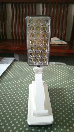 雅格台灯led充电式可折叠工作阅读台灯卧室床头灯学生学习写字台灯照明儿童护眼台灯 浅蓝色 晒单图