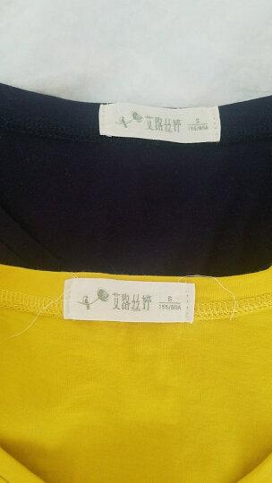 艾路丝婷2019夏装新款纯棉T恤女短袖V领上衣韩版修身纯色体恤衫TX3560 白色圆领 M 晒单图