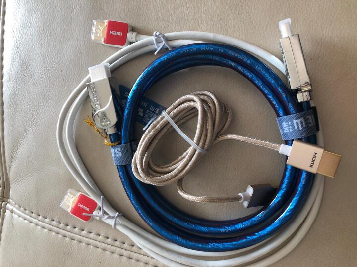 飞利浦(PHILIPS)HDMI2.0 便携 4K高清线 金属头高密度编织细线1.8米 匹配玩客云 SWV7120N/93 晒单图