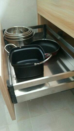 悍高(HIGOLD) 拉篮 不锈钢厨房橱柜抽屉式调味篮碗篮 厨房置物架五金挂件碗架 304不锈钢-900柜体套装 (平篮+碗篮) 60cm以上 晒单图