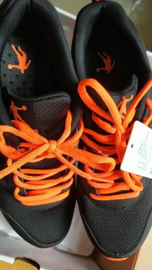 乔丹 男鞋运动鞋减震轻便跑步鞋 XM1560239 黑色/闪亮橘 42 晒单图