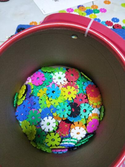 铭塔300片雪花片 积木儿童益智玩具男女孩宝宝幼儿园启蒙早教教具 中号加厚塑料拼插装12色桶装 晒单图
