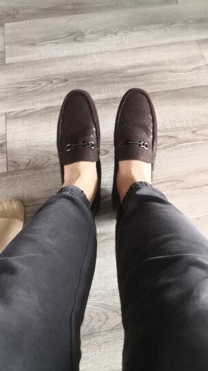 欧洲站意大利男鞋秋冬休闲鞋真皮透气豆豆鞋男驾车鞋子 AJ528棕色 38(正常皮鞋码) 晒单图