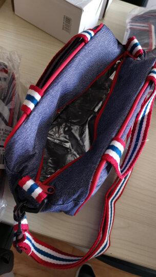 比得兔(Peter Rabbit)牛仔保鲜饭盒便当提袋 多功能斜跨手提式保冷保温包 蓝色牛仔款 晒单图