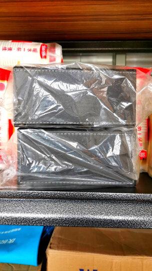 【2件8.8折】皮质纸巾盒 皮革抽纸盒客厅餐巾纸抽盒子 家用桌面茶几创意欧式现代简约车载车用 小号-黑色羊皮纹 晒单图