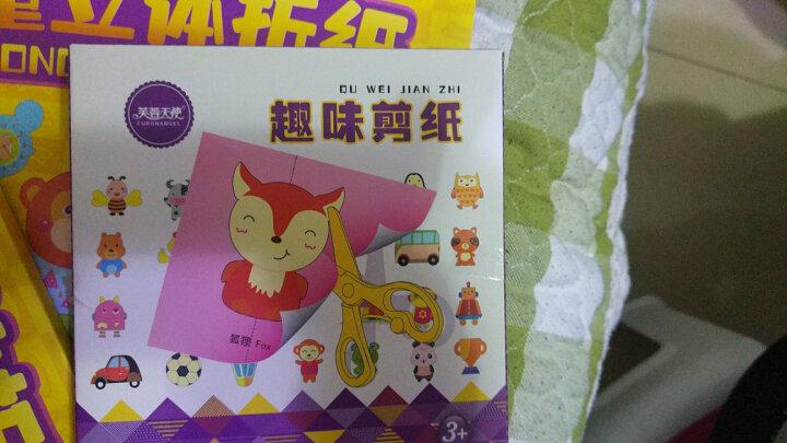 银河公园 TS8233手工纸艺4合1套装(立体手动折纸/彩色剪纸) 幼儿园宝宝DIY制作材料 儿童剪纸3-6岁 晒单图