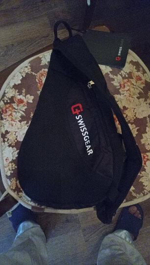 SWISSGEAR胸包男 防水时尚休闲胸包三角斜挎包 户外运动单肩包旅行小包 SA-9966黑色 晒单图