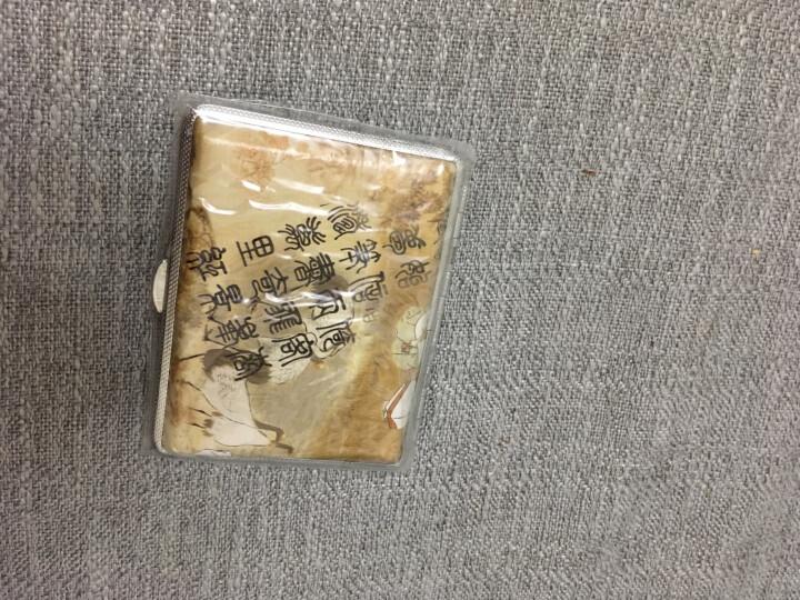 双枪烟盒子 自动商务一体 便携式防水防压防潮 男士创意 真皮仕女图案 16支 异族风情 晒单图