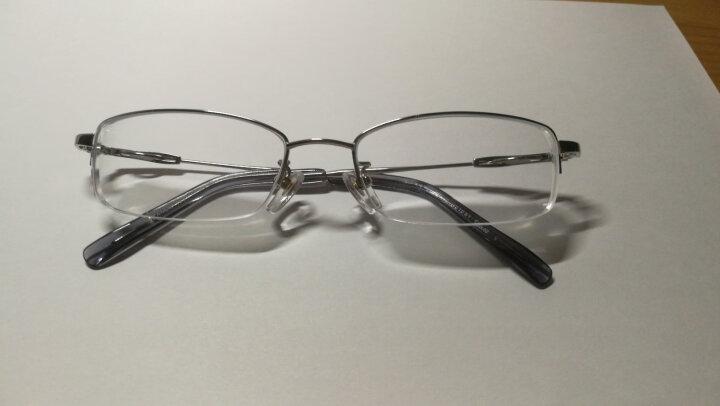 精工SEIKO 近视眼镜框男款商务眼睛超轻半框纯钛光学防蓝光眼镜架配眼镜H1061 金色 配亿超1.61变灰色镜片 晒单图