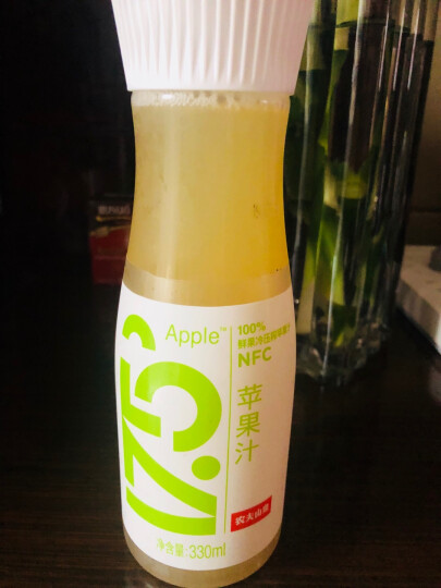 农夫山泉17.5°NFC鲜苹果汁 100%果汁 330ml/瓶(2件起售) 晒单图