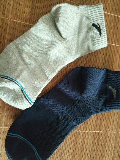 安踏运动袜男袜2020年季新款跑步袜篮球袜组合装舒适防臭休闲袜子4双装中短袜袜子棉 黑/深蓝/浅灰/白色-2(中袜) S 晒单图