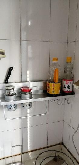 南极人 Nanjiren 免打孔太空铝厨房置物架60CM双杯带护栏壁挂厨房挂件刀架调料架杂物架多功能收纳架 NJR630 晒单图