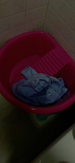 茶花 塑料盆加厚搓衣板洗衣盆 03351K 晒单图