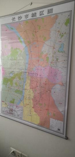 2019新版 长沙市城区图 地图挂图 0.9*1.2m 政区交通办公全图 湖南地图出版社 晒单图