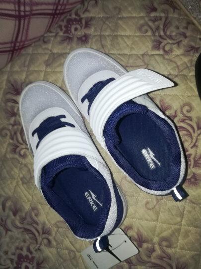 鸿星尔克男儿童板鞋童鞋春季新款休闲小白鞋滑板鞋运动鞋 正白/深紫蓝(1037) 32 晒单图