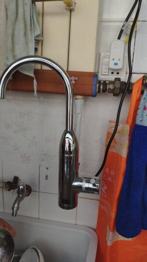 沃牧电热水龙头厨房 即热式水龙头电热水器快速热加热水龙头淋浴小厨宝 升级款侧进水【数显+漏保】 晒单图