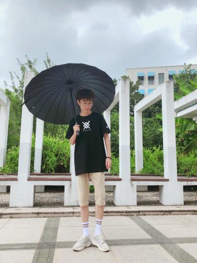 美度 24骨超大男士商务长柄晴雨伞 M5003黑色 晒单图