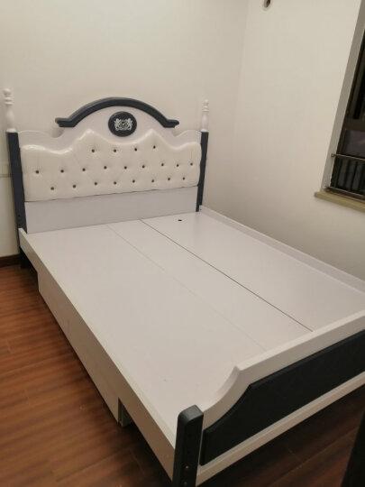 雅思洛 实木床框架欧式王子床单人床卧室家具357A1 气动高箱床+10分棕垫+1个双抽床头柜(粉色) 1500*2000 晒单图
