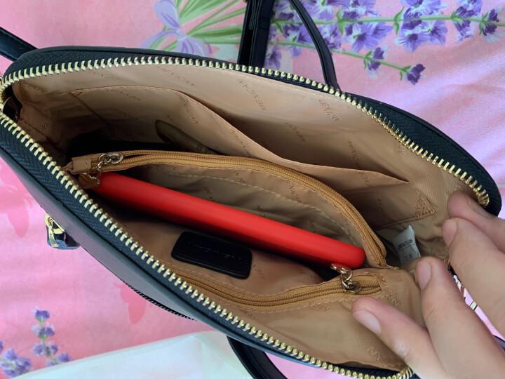 稻草人(MEXICAN)包包女包斜挎包欧美时尚牛皮单肩包贝壳包菱格小包MYH70417L-06黑色 晒单图