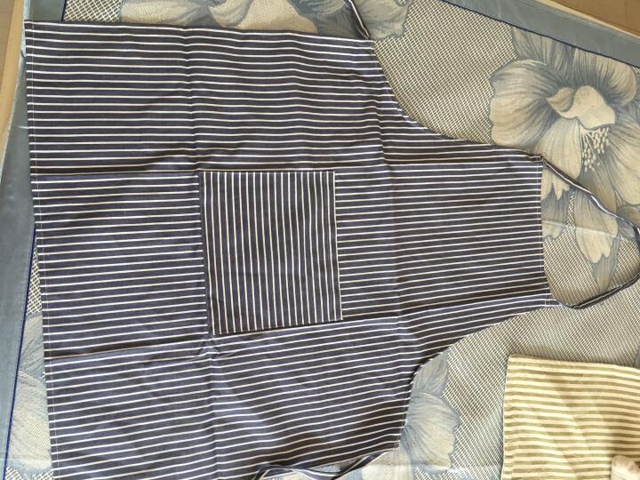 佳佰日式纯棉条纹围裙 薄缥蓝 晒单图