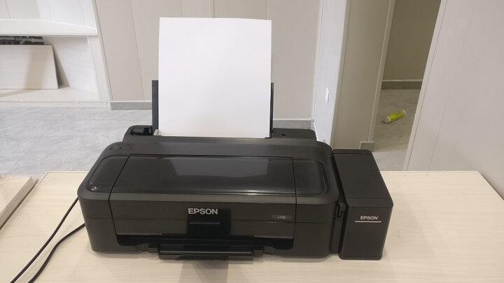 爱普生(EPSON)L130/L805/WF100彩色墨仓式喷墨打印机A4照片打印机相片家用打印机 爱普生L130【套餐一】加原装四色墨水1套】 晒单图