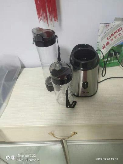 美的(Midea)榨汁机便携双杯迷你果汁机 不锈钢机身 家用榨汁杯料理机搅拌机WBL2501A 晒单图