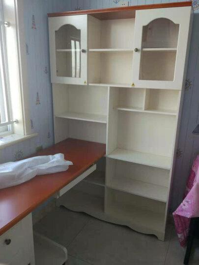 优漫佳 儿童书桌书架书柜书架组合转角书桌台式电脑桌学生桌 1.4米书桌+书柜  白色 含 实木椅子 晒单图