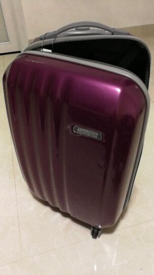 美旅拉杆箱 20英寸男女超轻大容量行李箱耐磨万向轮登机箱送箱套 密码锁旅行箱40T紫色 晒单图
